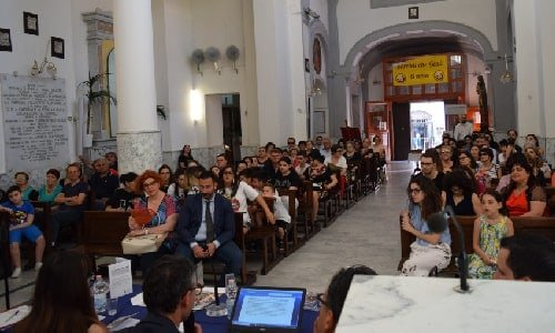 foto della cappella filangieri durante la prima edizione